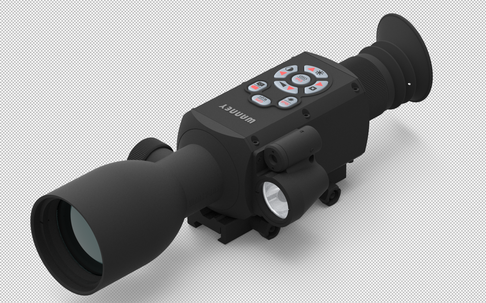 Night Vision Rifle Scope (200 meters)